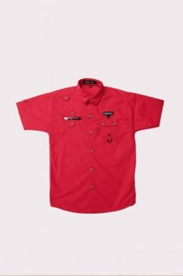 Boy Casual Shirt  – 3132	Red