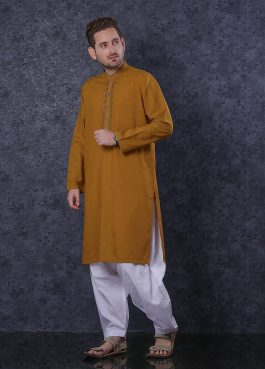 Gents Real Image Kurta Embroidered D323