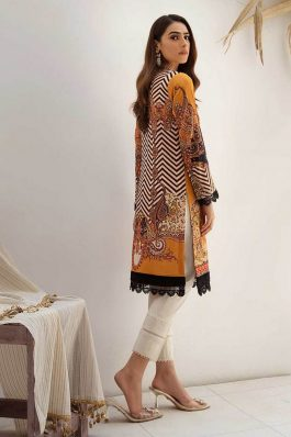 Rajbari Premium Voil Embroidered Lawn Unstitched 3Piece Suit D # 1A
