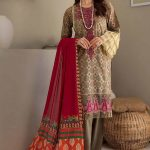 Rajbari Embroidered Lawn 3 Piece unstitched Suit