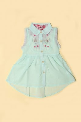 Baby Girl Casual Frock D-6009 Sea Green