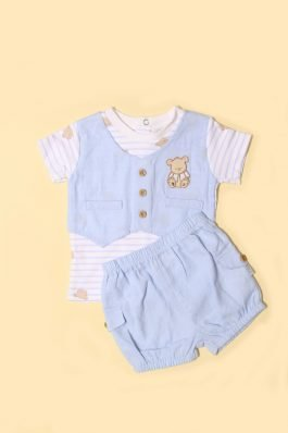 New Born Nicker Suit D-1115 Sky