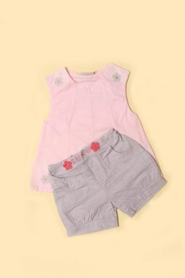 New Born Nicker Suit D-1126 Pink