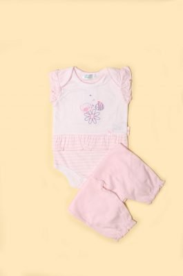 New Born Baby Body Suit D-1127 Pink