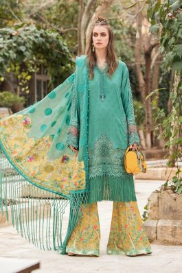 Maria B Embroidered Lawn Unstitched 3Piece Suit D-2107-B