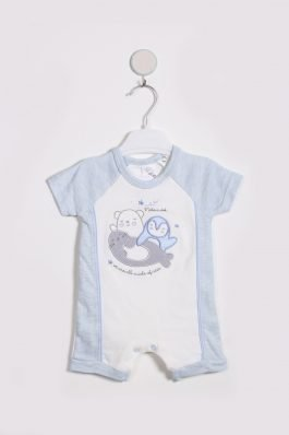 New Born Baby Romper D-13076 Sky