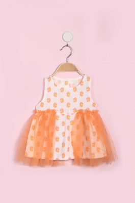 New Born Frock D-2013 Peach