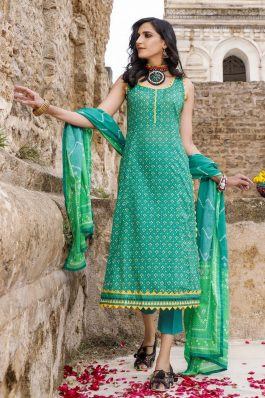 Gul Ahmed Chunri Lawn Unstitched 3Piece Suit CL-1278 B